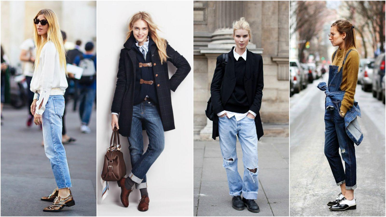 Джинсы + ботинки: как носить