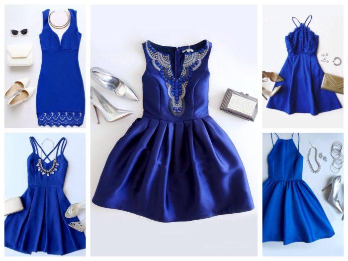 Cинее платье, какое выбрать